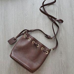 Charming Charlie Mini Brown Bucket Bag